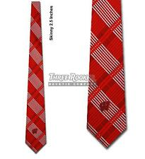 Skinny Badgers Tie Licensed Neck Ties Wisconsin Badgers Neckties Nwt Free Shippi