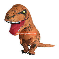 T-rex Inflatable Dinosaur Costume Adult Jurassic Halloween Blownup Fancy Outfit