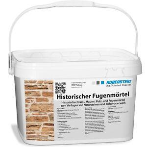 Orig. Ruberstein® Historischer Fugenmörtel Spachtel natur, 10 kg Eimer