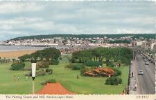 Somerset Postcard - The Putting Green and Hill - Weston-Super-Mare - Ref XX898