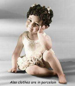 Statua in porcellana bambina  ballerina figurina di bimba in tutù balletto nuova