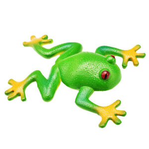 Halloween Toy Simulation Stretchable Rubber Frog Model Spoof Exhaust Game  Hot