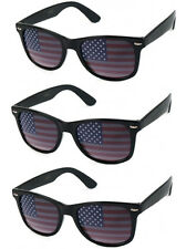 3 PAIRS American USA US Flag Sunglasses BLACK Patriotic United States Stars Nerd