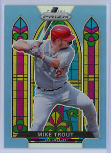 2021 Prizm MIKE TROUT Carolina Blue STAINED GLASS SG-1 MEGA SP Angels!!