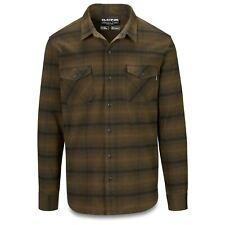 Dakine Mens Underwood Flannel Long Sleeve Shirt Dark Olive