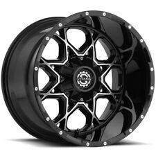 4 Scorpion Sc 10 20x10 6x1356x55 19mm Blackmachined Wheels Rims 20 Inch Fits Ram
