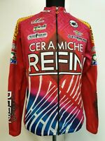 A479 MENS CASTELLINI CERAMICHE REFIN RED PINK LONG SLEEVE CYCLING JACKET S EU 46