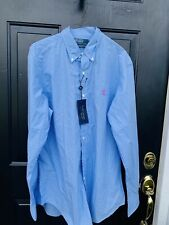 NWT. Ralph Lauren Polo Dress Shirt Size 16. 40/41 Excelelnt Condition Boho Retro