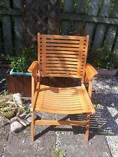 Vintage Niko Kralj Rex Folding Deck Chair Photo Prop Window Dressing Beach