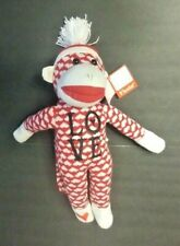 New Fiesta Sock Monkey embroidered Love with Red and White Heart Theme