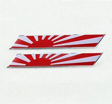 2x Metal JASDF Japan JP National Flag Decal Emblem Badge Sticker For Mitsubishi