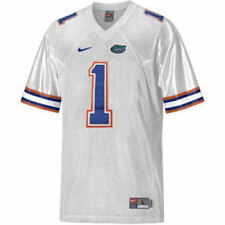 NIKE University Florida Gators Sewn #1 White Football Jersey NEW Youth Boys L 16