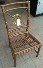 McGuire Target Back Rattan Chair