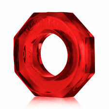 Oxballs Erection Enhancer Ring Clear Red Hex Nut Shape