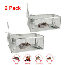 2X Live Humane Cage Trap for Chipmunk Rat Mice Squirrel Rodent Animal Catcher