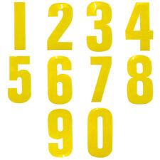 4 x YELLOW GARDEN WHEELIE BIN HOUSE NUMBER VINYL LABELS STICKERS SELF ADHESIVE
