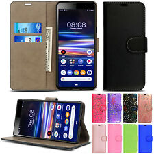 Leather Flip Wallet Stand Phone Case Cover For Sony Xperia L4 L3 L2 L1 Experia