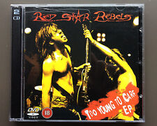 RED STAR REBELS - Too Young To Care CD EP EX+ 2005 4 Tracks With Bonus DVD RARE