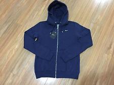 Nike Women's Classic Fleece Full Zip Hoodie Jacket Navy 5866 411 M Sportwear NWT