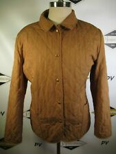 E7770 VTG BURBERRY LONDON Plaid Lined Quilted Jacket Size XL