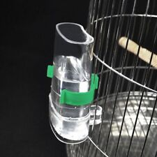 Bird Automatic Cage Water Food Feeder Parrot Cockatiel Canary Acrylic Pet Np2