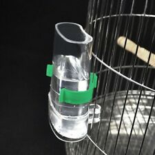 Bird Automatic Cage Water Food Feeder Parrot Cockatiel Canary Acrylic Pet Dl5
