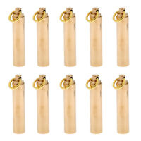 10x Waterproof Brass Capsule Pill Container Box Case Toothpick Holder 65mm