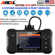 Automotive OBD2 Code Reader Transmission SRS ABS EPB Reset Diagnostic Scanner
