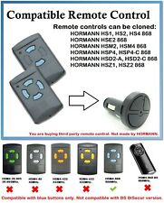 Compatible Car Lighter Remote Control with HORMANN HSM2, HSM4 868 (Blue buttons)