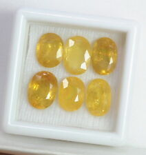 13.50 CT NATURAL YELLOW SAPPHIRE 6 PIECES TRANSPARENT TOP QUALITY WHOLESALE GEMS