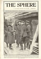 1918  ANTIQUE PRINT- WW1 - FIRST ARMISTICE, RUSSIAN EMISSARIES, GERMAN OFFICERS