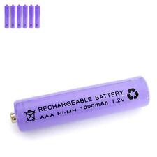 6 pcs AAA 3A 1800mAh 1.2V Ni-MH rechargeable battery Solar Light MP3 RC Purple