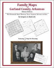 Family Maps Garland County Arkansas Genealogy AR Plat