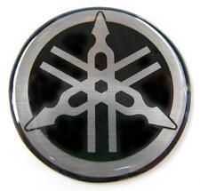 ORIGINAL Yamaha  3cm  EMBLEM-S/SILBER-LOGO-Sticker-Decal-EMBLEMA-EMBLEEM-30mm