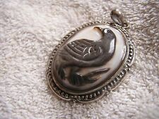 """Vintage Cameo with Bird Marked .925 """"GSJ CN"""""""