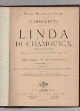 linda di chomounix - g. donizetti - per canto e pianoforte
