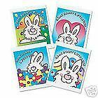 SOME BUNNY LOVES YOU 12 Temporary Kids Tattoos EASTER