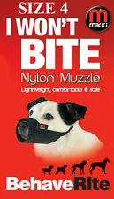 DOG MUZZLE No 4 I WON'T BITE Fabric Dog Muzzle Great Dane Size Etc MIKKI