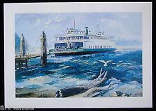 8 Historic WA State Ferry Boat Vashon Art Note Cards ~ Marshall Johnson no env.