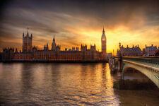 LONDON - BIG BEN & PARLIAMENT POSTER 24x36 - SCENIC UK EUROPE 34201
