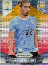 2014 World Cup Prizm Yellow Red Parallel No.190 M.CACERES (URUGUAY)