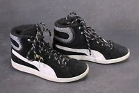 SB677 Puma Vikky Marl Mid Sneaker Sportschuhe Gr. 38 schwarz Leder gefüttert