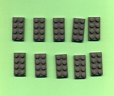 Lego--3020--Bauplatte--10 Stück--Grau/OldDKGray--Basic--2 x 4--