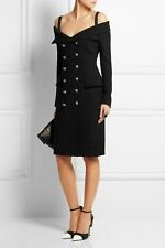FAITH CONNEXION Black Crepe Off Shoulder Blazer Dress FR36 US 4 NWT