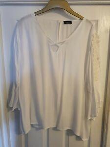 Women's Klass White Top - Size 20