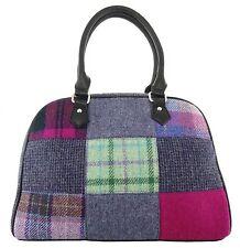Ladies Authentic Harris Tweed Patch Bag Purple LB1022 COL 56