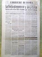 Corriere di Roma del 26 Ottobre 1944 WW2 Eccidio di Stazzema Russi Norvegia Anna