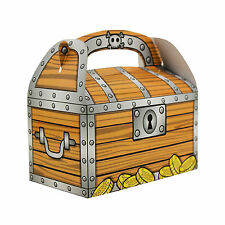 Pirate Treasure Chest Gable Treat Box Gold Coins Party Favors Bag Fillers Kids