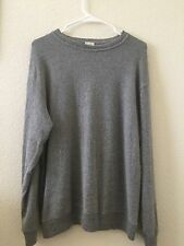 brandy melville super soft heather gray oversized lana wool crewneck sweater NWT