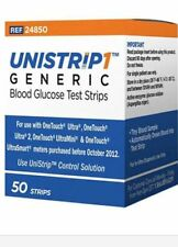 UniStrip 50 Test Strips for Use with Onetouch® Ultra® Meters Exp:(11/15/2018)